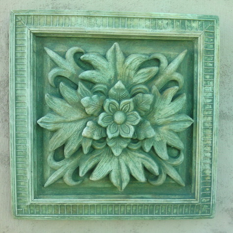 149 Square Floral Paterae 3