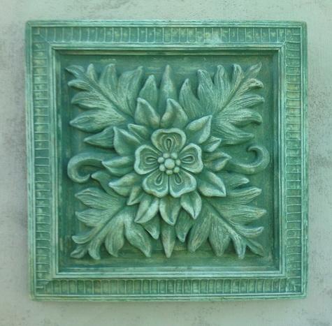 148 Square Floral Paterae 4