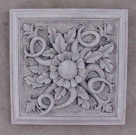 146 Square Floral Paterae 6